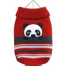 FouFou Dog Animal Sweater, Panda, X-Large