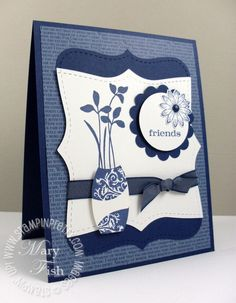 Mojo Monday Vase Video - Stampin' Up! Demonstrator - Mary Fish, Stampin' Pretty Blog, Stampin' Up! Card Ideas & Tutorials