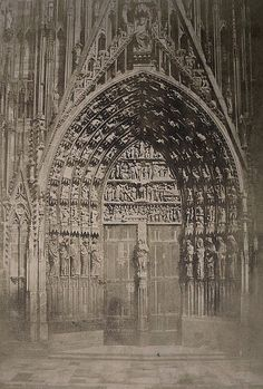 Charles Marville, Cathedrale de Strasbourg, Grand Portail, 1853