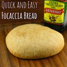 Quick and Easy Focaccia Bread - Freshly baked bread is just minutes away!