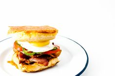 bacon and egg grilled cheese breakfast sandwich recipe - www.iamafoodblog.com