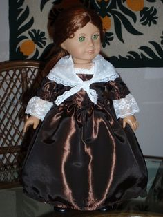 1770s Colonial Gown and Shawl for American by alohagirldollclothes, $36.00