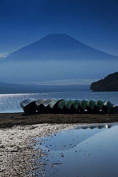 Mt. Fuji and boats