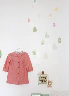 Raindrops at the wall