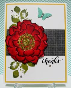 Savvy Handmade Cards: Blended Bloom Thanks Card