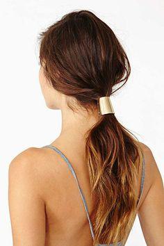gold ponytail holder