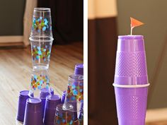 cup castles - Playing With Recycled Materials | Momtastic
