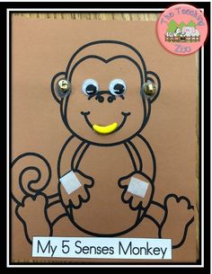 My Five Senses Monkey! Too cute! Check out the whole unit that goes along with it!