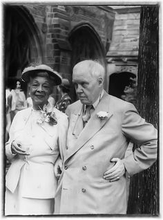 Carl Van Vechten and Nora Holt at Yale, June 22, 1955 Nora Holt is the 1st African America to earn a master decree in the U.S.