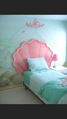 Little mermaid inspired room
