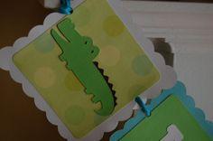 Alligator Happy 1st Birthday Gator Party Gator by GiggleBees, $26.00