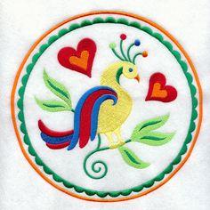 pennsylvania dutch patterns | ... Designs at Embroidery Library! - Distelfinks Pennsylvania Dutch Hex
