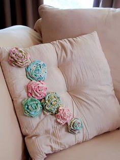 Fabric roses tute
