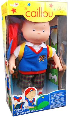 First Caillou Talking Doll Arrives @Caillou #CaillouDoll (& Giveaway Ends 4/16)