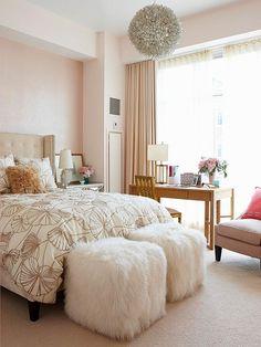 blush + neutrals bed