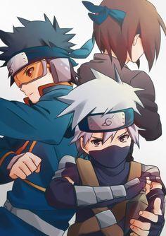 Naruto Kakashi Rin Obito