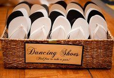 Flip flop dancing shoes