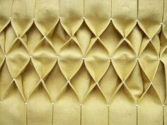 honeycomb smocking for tutorial - I'll use this for my burlap curtains