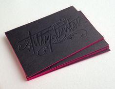 Carte de visite letterpress - Titty Twister