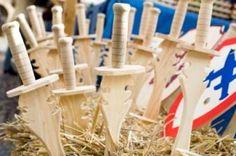wooden toy swords