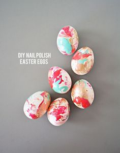 Nail polish Easter eggs - 20 Creative and Easy DIY Easter Egg Decorating Ideas