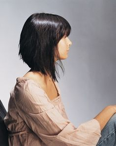 long asymmetrical bob by bleu. Bobs Haircuts, Straight Hair, Long Asymmetrical Bob, Bobs Hairstyles, New Hair, Hair Cut, Girls Hairstyles, Hair Style, Long Bobs