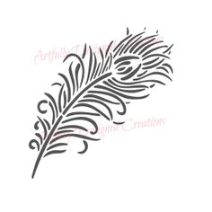 Peacock Feather Cookie Mini Stencil by ArtfullyDesignedCo on Etsy, $5.00