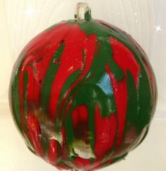 Drip Painted Homemade Christmas Ornaments