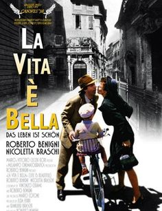 1997. Pelicula dirigida por Roberto Benigni. Todo lo que un padre es capaz de hacer por mantener la felicidad de su hijo en tiempos de persecutorio a los judíos.