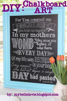 DIY chalkboard art...how to get perfect font.