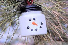 Snowman Ornament Christmas DIY ideas | Skip To My Lou