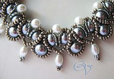 Beautiful freshwater pearl necklace ~ in Russian but has great diagrams