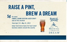 In restaurants and bars across the country, mobile users will be able to scan QR codes on Samuel Adams posters and signs to access more information and personal stories about the various small businesses involved in the Samuel Adams Brewing the American Dream program. The program is designed to help small business owners through loans and coaching.
