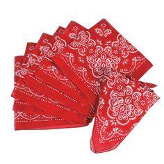 Red Bandanas - OrientalTrading.com
