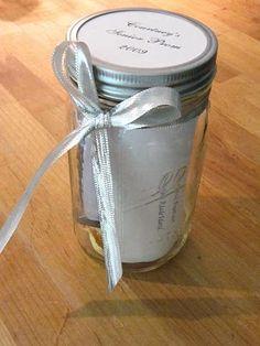 Memory Jars - wonderful ideas on this blog!