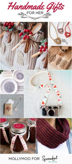 17 of my favourite handmade gift ideas for every friend, sister, mother, neighbor. A collection of beautiful ideas to help you create handmade gifts that are sure to be cherished! No special skills are needed for many of these tutorials…ya gotta love that! | MollyMoo for @Spoonful