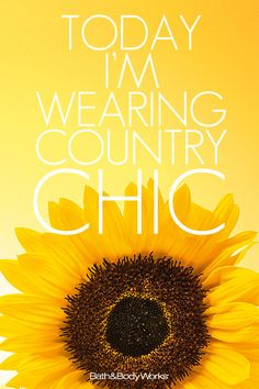 It's a #CountryChic kind of day!