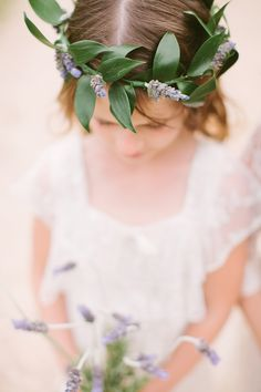 beautiful flower girl wreath, photo by J.Bird Photography http://ruffledblog.com/austin-le-san-michele-wedding #floralwreath #flowercrown #flowergirl