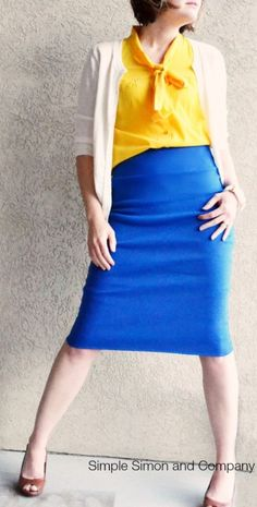 Easy pencil skirt from knit fabric