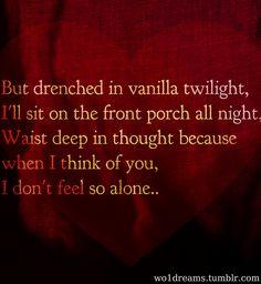 Lyrics to twilight song