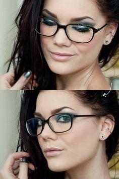 Makeup tips for Women Wearing Eyeglasses