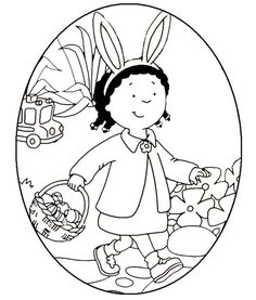 Clementine Egg-Shaped Coloring Sheet