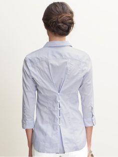 Way to upcycle a too-big shirt.