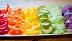 Veggies as rainbow: GORGEOUS