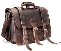 Saddleback Leather Co.'s briefcase with a 100-year warranty, how can you go wrong?
