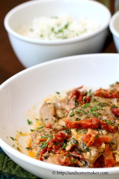 {USA} Braised Chicken in Sun-Dried Tomato Cream #recipe #dinner #chicken via unihomemaker.com