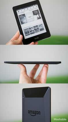 Amazon's new ultra-slim, ultra-light Kindle, the Voyage.