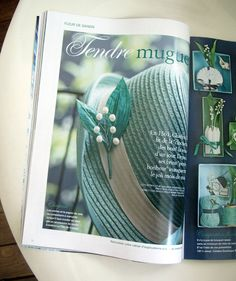 Paper and pearls muguet brooch, by La Fille du Consul  - In Marie-Claire Idées n°96, mai juin 2013