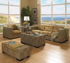 seagrass furnitur, monterey seagrass, wicker blog, beach hous, beach group, seagrass beach, live room, sunroom decor, seagrass sunroom