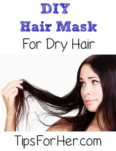 DIY Mask for Dry Hair - Moisturize and repair dry, damaged hair and help to prevent from split ends. This simple mask will leave your hair feeling soft, rejuvenated, and free from breakage.